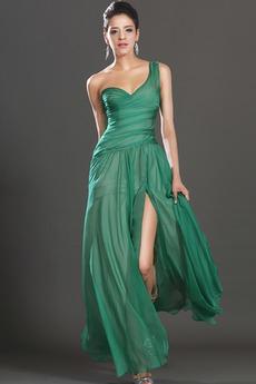 Κομψό Θήκη Οι πτυχωμένες μπούστο Μέχρι τον αστράγαλο Μπάλα φορέματα