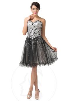 αγαπημένος Τούλι Δαντέλα-επάνω Χάντρες Λαμπερό Μπάλα φορέματα