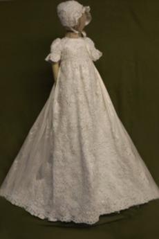 Δαντέλα Υψηλή καλύπτονται Κόσμημα Πριγκίπισσα Φόρεμα Βάπτισης