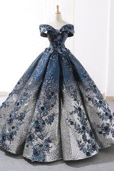Μπάλα φορέματα Φυσικό Γραμμή Α Κλεψύδρα Προσαρμοσμένες μανίκια Από τον ώμο