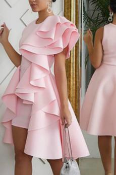 Μπάλα φορέματα σικ & σύγχρονος Ασύμμετρη Ασύμμετρη Αμάνικο Άνοιξη