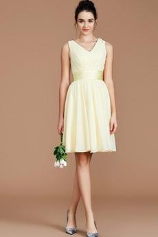 Καλοκαίρι Μέχρι το Γόνατο Υψηλή καλύπτονται Παράνυμφος φορέματα