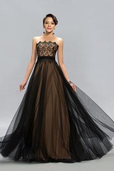 Αμάνικο Τούλι Δαντέλα επικάλυψης Φυσικό Δαντέλα Βραδινά φορέματα