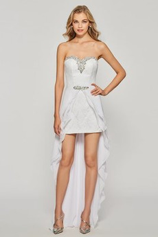 Χάντρες Ασύμμετρη Σιφόν Ασύμμετρη Φυσικό Κοκτέιλ φορέματα