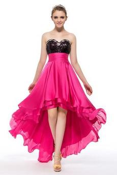 Αμάνικο αγαπημένος Καλοκαίρι υψηλή Χαμηλή Κοκτέιλ φορέματα