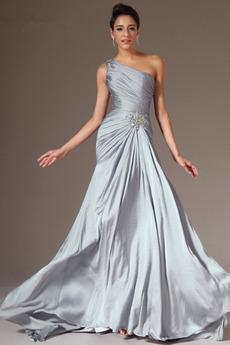 Μικροκαμωμένη Ένας Ώμος Επίσημη Τα μέσα πλάτη Βραδινά φορέματα