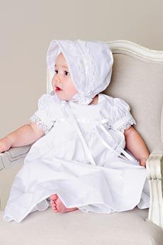 Μήκος πατωμάτων Καλοκαίρι Μικρό Τόξο Κόσμημα Φόρεμα Βάπτισης