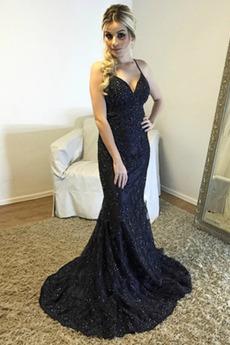 Μπάλα φορέματα Σέξι Κόσμημα τονισμένο μπούστο Χάνει Χιαστί Τραίνο σκουπισμάτων