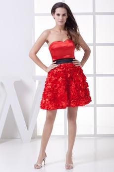 άτυπος Γραμμή Α εξώπλατο Φυσικό Σατέν Μίνι Κοκτέιλ φορέματα