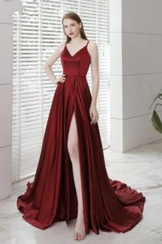 ecdc59be9be Μπροστινό Σκίσιμο Έτος 2020 Φερμουάρ επάνω Βραδινά φορέματα