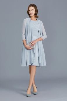 Μέχρι το Γόνατο Μακρύ Μανίκι απλός Κοντομάνικο Μητέρα φόρεμα