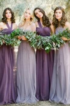 Γραμμή Α πιέτα απλός εξώπλατο Τούλι Στράπλες Παράνυμφος φορέματα