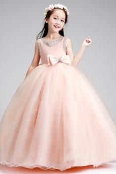 Κόσμημα Επίσημη Χάνει Φυσικό Οργάντζα Χάντρες Λουλούδι κορίτσι φορέματα