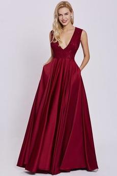 Λαιμόκοψη V Γραμμή Α Καλοκαίρι Υψηλή καλύπτονται Βραδινά φορέματα