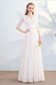 Δαντέλα Φθινόπωρο Γραμμή Α Χάντρες Πολυτελές Βραδινά φορέματα