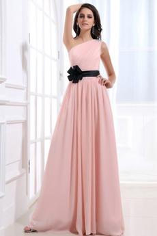 Οι πτυχωμένες μπούστο φαντασία Σιφόν Ένας Ώμος Παράνυμφος φορέματα
