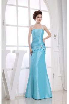 Τιράντες σπαγγέτι Ρομαντικό Φερμουάρ επάνω Βραδινά φορέματα