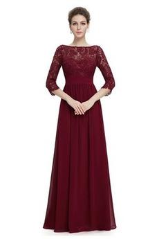 Δαντέλα επικάλυψης Δαντέλα Σιφόν σύγχρονος Βραδινά φορέματα