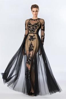 Κόσμημα Μέχρι τον αστράγαλο Ψευδαίσθηση βλέπω μέσω Βραδινά φορέματα
