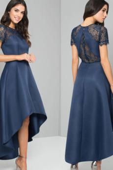 Ψευδαίσθηση Κοντομάνικο Κόσμημα Ασύμμετρη Βραδινά φορέματα
