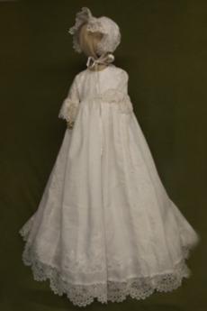Φανάρι Χάνει Υψηλή καλύπτονται Κουμπιά Επίσημη Φόρεμα Βάπτισης