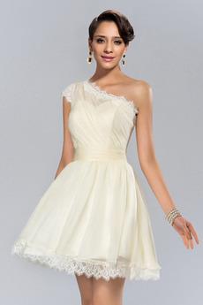 Ασύμμετρα μανίκια Κοντό Φυσικό άτυπος Αμάνικο Κοκτέιλ φορέματα