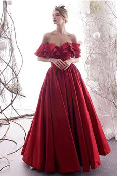 Βραδινά φορέματα Δαντέλα-επάνω Από τον ώμο Ντραπέ Κοντομάνικο Έτος 2019