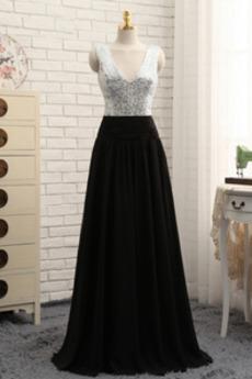 Πολυτελές Φερμουάρ επάνω παγιέτες μπούστο Μπάλα φορέματα