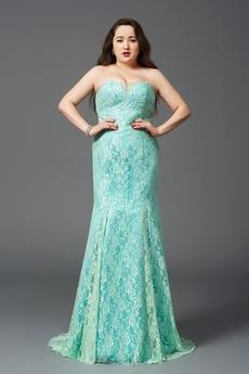 Δαντέλα Αμάνικο Στράπλες Φερμουάρ επάνω Δαντέλα Βραδινά φορέματα