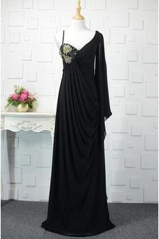 Ασύμμετρα μανίκια Γραμμή Α Μέση αυτοκρατορία Βραδινά φορέματα