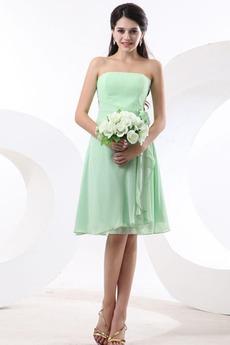 Τονισμένα ροζέτα Γραμμή Α Φυσικό Αμάνικο Παράνυμφος φορέματα