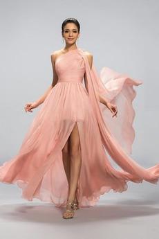 Οι πτυχωμένες μπούστο εξώπλατο Ένας Ώμος Βραδινά φορέματα