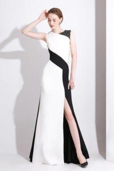 Μήκος πατωμάτων σικ Κόσμημα Μικροκαμωμένη Βραδινά φορέματα