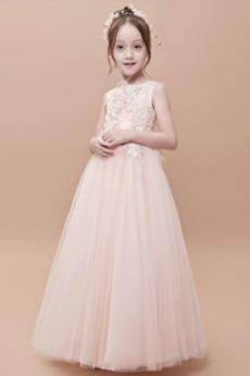 Τούλι Φερμουάρ επάνω Φυσικό Καλοκαίρι Διακοσμητικά Επιράμματα Λουλούδι κορίτσι φορέματα