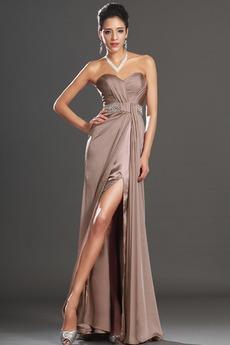 αγαπημένος Λαμπερό Αμάνικο Μήκος πατωμάτων Βραδινά φορέματα