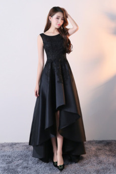 Αμάνικο Ασύμμετρη Πολυτελές Φυσικό Σατέν Μπάλα φορέματα