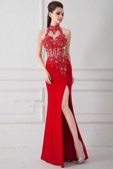 Υψηλός λαιμός Χάνει Μακρύ Αμάνικο Σέξι Γοργόνα Βραδινά φορέματα