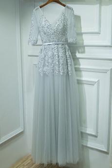 Γραμμή Α Ψευδαίσθηση Καλοκαίρι Λαιμόκοψη V Παράνυμφος φορέματα