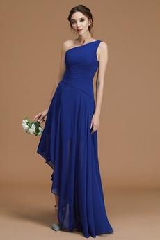Αμάνικο Ένας Ώμος Ασύμμετρη υψηλή Χαμηλή Παράνυμφος φορέματα