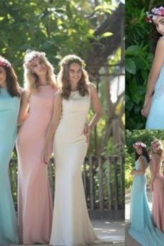 Αμάνικο Πολυτελές Χάνει Σατέν εξώπλατο Δαντέλα Παράνυμφος φορέματα
