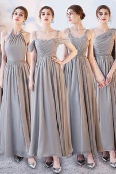 Τιράντες σπαγγέτι Γραμμή Α Δαντέλα-επάνω Παράνυμφος φορέματα