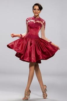 Ψευδαίσθηση Γραμμή Α εξώπλατο Μέχρι το Γόνατο Κοκτέιλ φορέματα