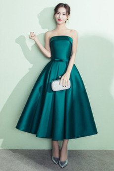 Μπάλα φορέματα κούνια Τονισμένα τόξο Γραμμή Α Το μήκος τσάι Ανάποδο Τρίγωνο