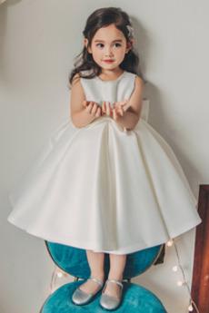 Κόσμημα Φυσικό Φερμουάρ επάνω Το μήκος τσάι Λουλούδι κορίτσι φορέματα