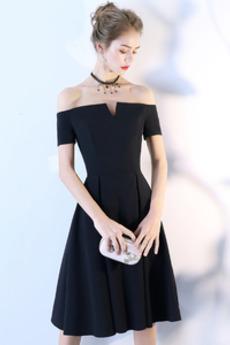 Φθινόπωρο Γραμμή Α Από τον ώμο Μέχρι το Γόνατο Κοκτέιλ φορέματα