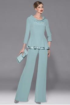 κλιμακωτή 3 απλός Μέχρι τον αστράγαλο Ανάποδο Τρίγωνο Παντελόνι κοστούμι φόρεμα