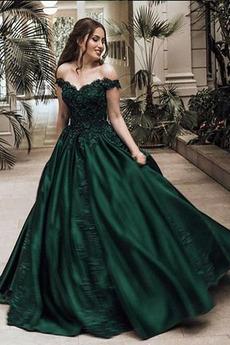 Φερμουάρ επάνω Πολυτελές Δαντέλα επικάλυψης Βραδινά φορέματα
