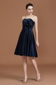 Φυσικό Αμάνικο Φερμουάρ επάνω Μέχρι το Γόνατο Παράνυμφος φορέματα