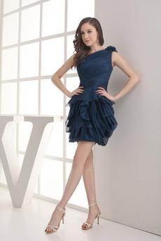 Αμάνικο Ασύμμετρη λαιμό Πλαϊνό Ντραπέ απλός Μπάλα φορέματα