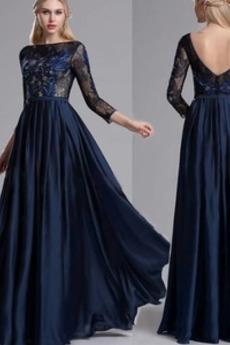 Μήκος πατωμάτων Δαντέλα επικάλυψης Γραμμή Α Βραδινά φορέματα